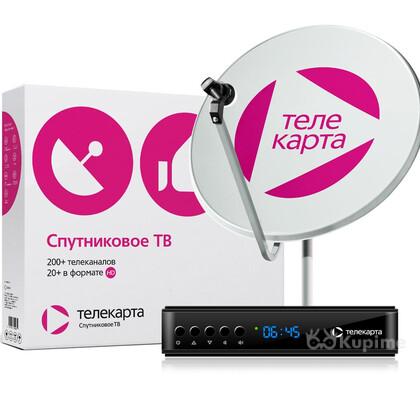 Телекарта спутниковое телевидение с установкой